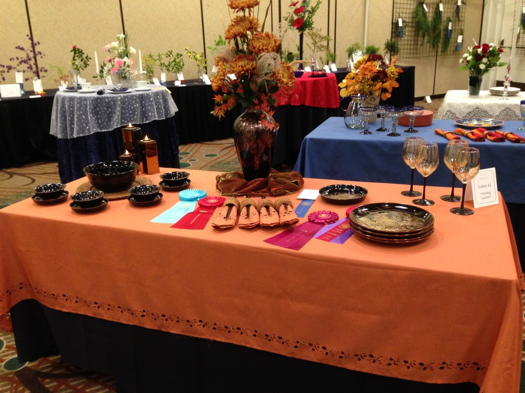 """Table Design at """"Starry, Starry Night"""" Flower Show 11/2015"""