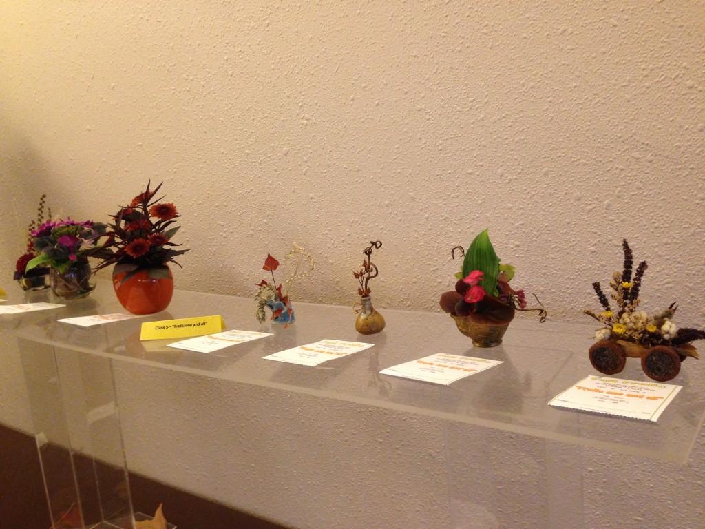 """Miniature Designs """"Fall Frolic"""" Flower Show 10/2015"""