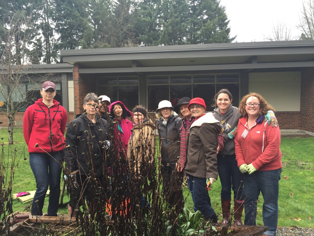 IGC and Parent volunteer work party at Issaquah Valley Elementary School 2/2016