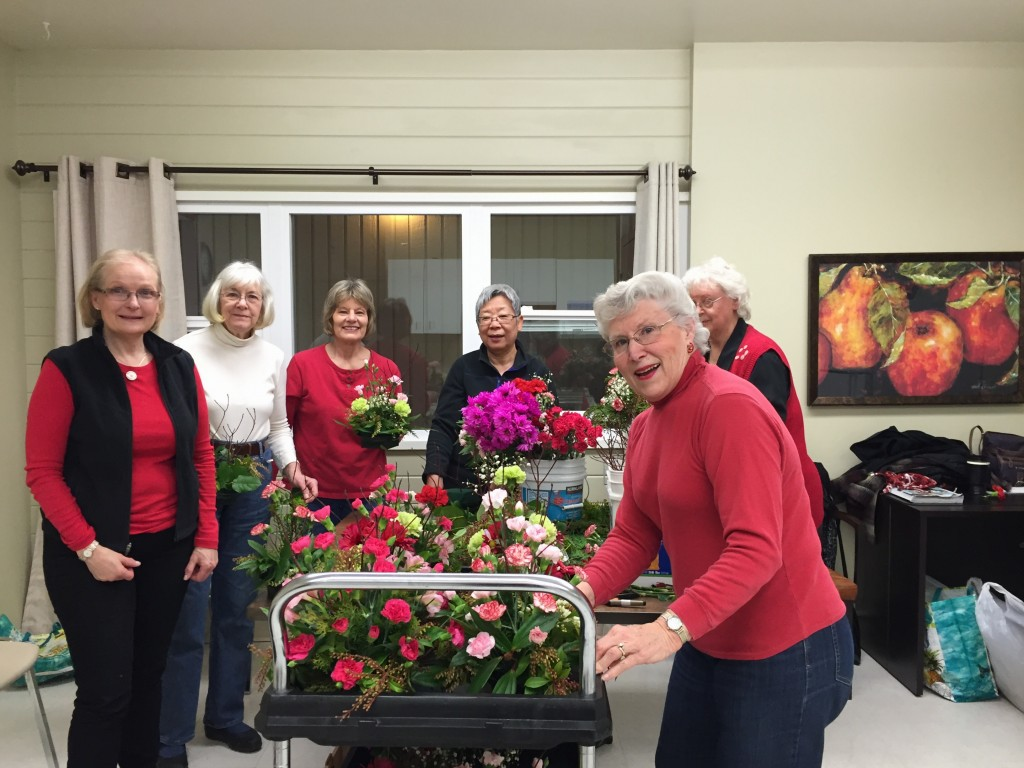 Valentine Centerpieces  IC&RC Garden Therapy 2/2016