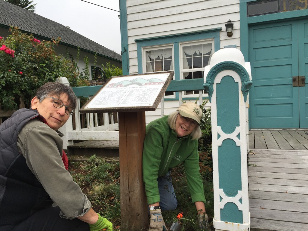 Issaquah Historical Museum garden work party 9/2016
